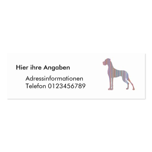 Great Dane in Pastel Colors Business Card