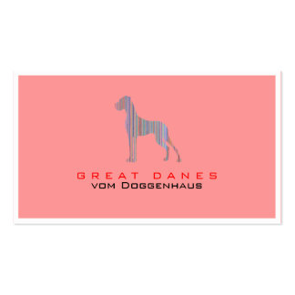 Great Dane in Pastel Colors Pack Of Standard Business Cards