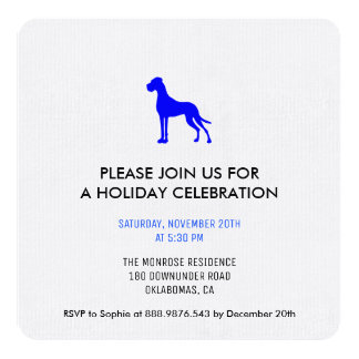 Great Dane invitation