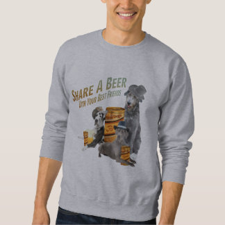 Great Dane & Irish Wolfe Hound Share A Beer Sweatshirt