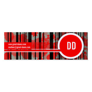 Great Dane Kennel Pack Of Skinny Business Cards