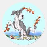 Great Dane Kinda Crabby Mantle UC Round Sticker