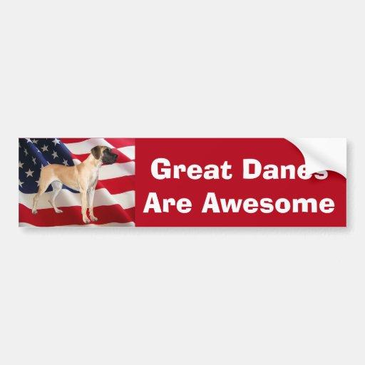 Great Dane King of Dogs Bumper Sticker