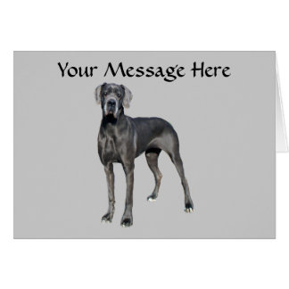 Great Dane King of Dogs Greeting Card