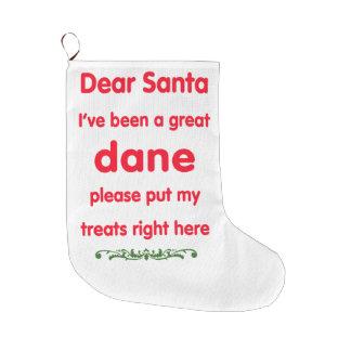 great dane large christmas stocking