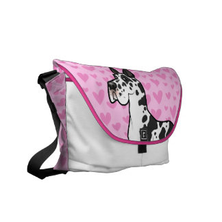 Great Dane Love (cropped) Commuter Bag