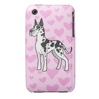 Great Dane Love (cropped) iPhone 3 Covers