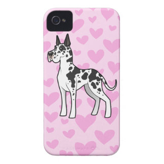Great Dane Love (cropped) iPhone 4 Case