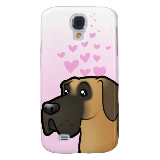 Great Dane Love Galaxy S4 Case