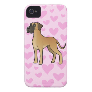 Great Dane Love (natural) Case-Mate iPhone 4 Cases