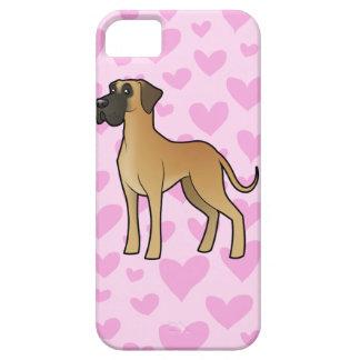 Great Dane Love (natural) iPhone 5 Case