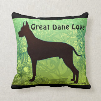 Great Dane Love pillow by Carol Zeock Throw Cushion