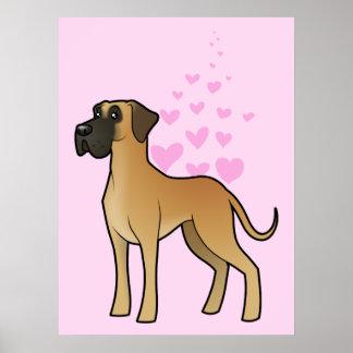 Great Dane Love Poster