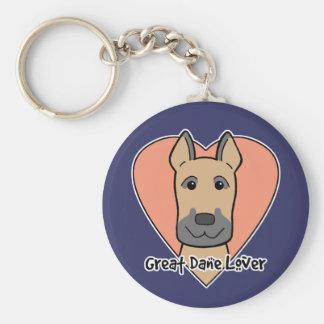 Great Dane Lover Keychains