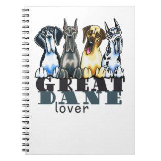 Great Dane Lover Spiral Notebook