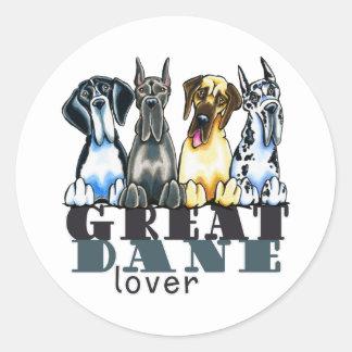 Great Dane Lover Round Sticker