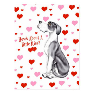 Great Dane Mantle UC Kiss Postcard