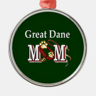 Great Dane Mom Gifts Silver-Colored Round Decoration