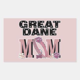 Great Dane MOM Rectangular Sticker