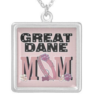 Great Dane MOM Silver Plated Necklace