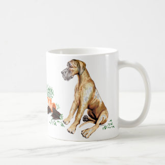 Great Dane Naughty Pup Brindle UC Coffee Mug