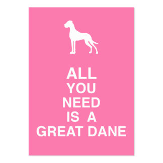Great dane pack of chubby business cards