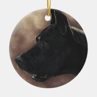 Great Dane Painting Christmas Ornament