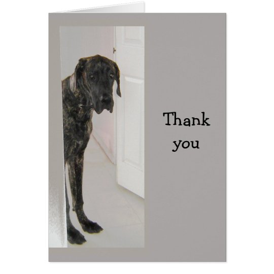 Great Dane Pet Dog Humour Thank you Card