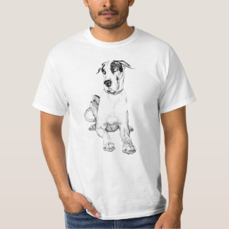 Great Dane Pouting Harlequin T-Shirt
