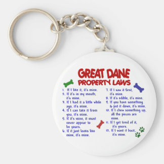 GREAT DANE Property Laws 2 Basic Round Button Key Ring