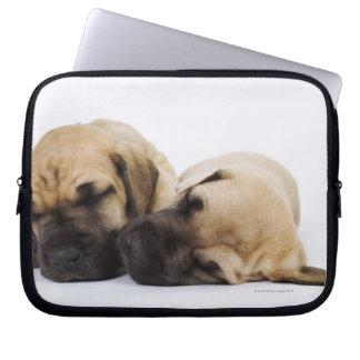 Great Dane puppies sleeping side by side in Laptop Sleeve