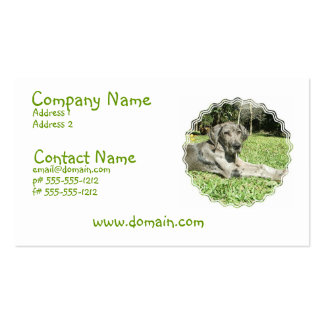 Great Dane Puppy Business Card