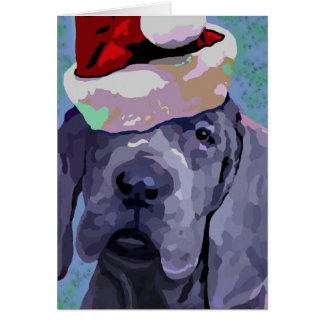 Great Dane Puppy Christmas Greeting Card