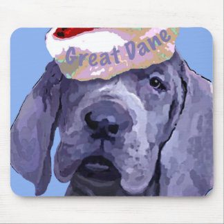 Great Dane Puppy Christmas Mousepad