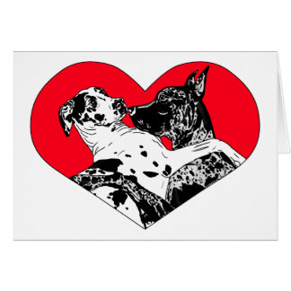 Great Dane Puppy Love - Customized Card