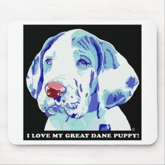 Great Dane Puppy Love Mouse Pads
