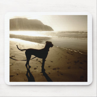 Great Dane Puppy Sunset Mousepad
