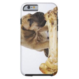 Great Dane puppy with bone in studio Tough iPhone 6 Case