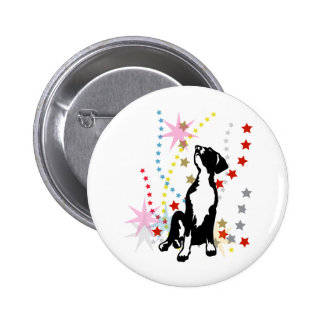 Great Dane Puppy with stars Pinback Buttons