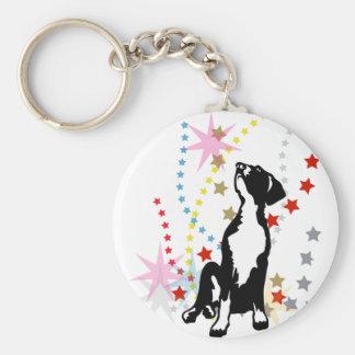 Great Dane Puppy with stars Keychains