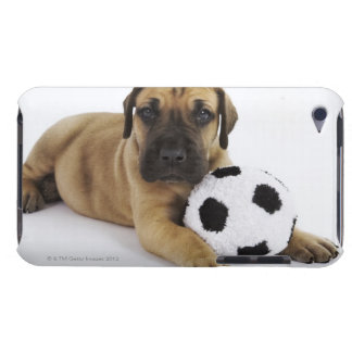 Great Dane puppy with toy soccer ball iPod Touch Cover