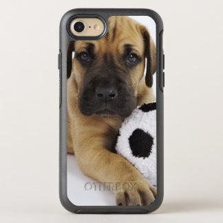 Great Dane puppy with toy soccer ball OtterBox Symmetry iPhone 7 Case