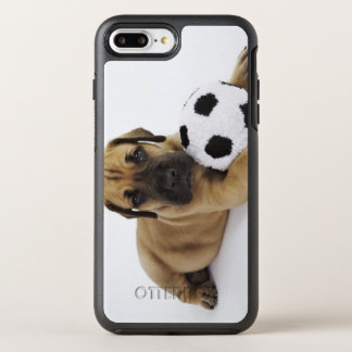 Great Dane puppy with toy soccer ball OtterBox Symmetry iPhone 7 Plus Case