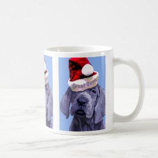 Great Dane Puppy X 3 Christmas Mug