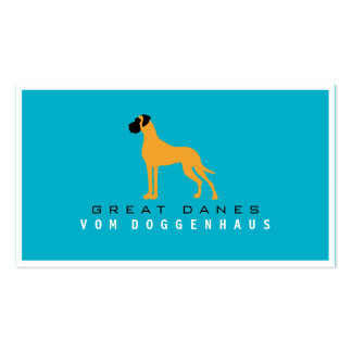 Great Dane pure Pack Of Standard Business Cards