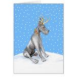Great Dane Reindeer Christmas Black