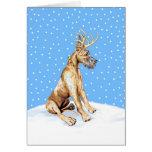 Great Dane Reindeer Christmas Brindle