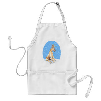 Great Dane Reindeer Christmas Fawn Standard Apron