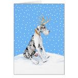 Great Dane Reindeer Christmas Harlequin UC