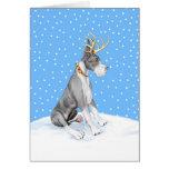 Great Dane Reindeer Christmas Mantle